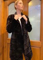 Long Black Patterned Coat