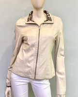 Alice Arthur Beige Leather Jacket