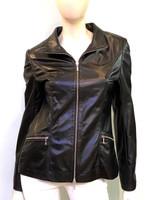 Lyn Leather Katie Jacket - Black Shiny Leather