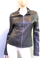 Alice Arthur Grey Leather Jacket