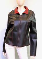 Alice Arthur Black-Red Leather Jacket