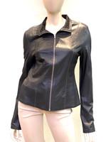 Alice Arthur Black Fabric Leather Jacket