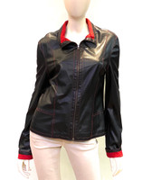 Alice Arthur Black and Red Leather Jacket