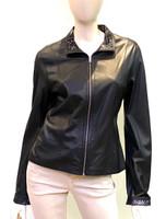 Alice Arthur Black Reversible Leather Jacket
