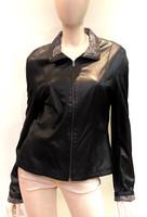 Alice Arthur Black/Print Leather Jacket