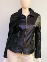 Lyn Leather Fever Shirt Jacket - Black