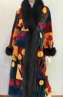 Zuki Long Floral Print Coat