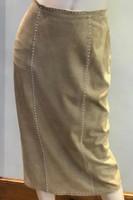 Jan Faulkner Pearl Studded Suede Skirt