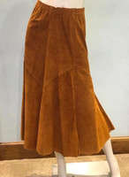 Augustina Leathers Suede Skirt