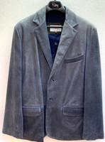 Remy Men's Two Button Leather Blazer-Atlantic/ Coal