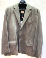 Remy Men's Two Button Leather Blazer-Granite/ Coal