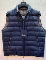 Herno Reversible Nylon Quilted Vest - Navy/Gray