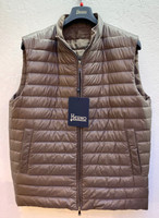 Herno Reversible Nylon Quilted Vest - Taupe