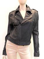 Jakett  Leather Moto Jacket - Ink