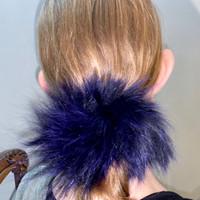 Paula Lishman Beaver Fur Scrunchie - A1