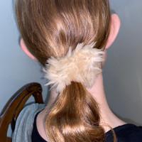 Paula Lishman Beaver Fur Scrunchie - B1