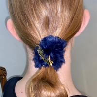 Paula Lishman Beaver Fur Scrunchie - D1