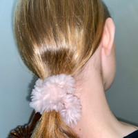 Paula Lishman Beaver Fur Scrunchie - E1
