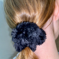 Paula Lishman Beaver Fur Scrunchie - G1