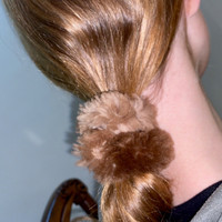 Paula Lishman Beaver Fur Scrunchie - H1