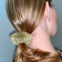 Paula Lishman Beaver Fur Scrunchie - K1