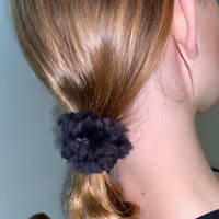 Paula Lishman Beaver Fur Scrunchie - L1