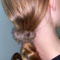 Paula Lishman Beaver Fur Scrunchie - M1
