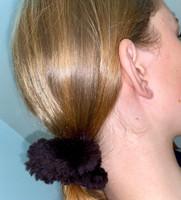 Paula Lishman Beaver Fur Scrunchie - P1