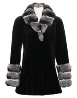 Sheared Mink, Chinchilla Cross Cut Coat
