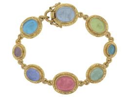 Elizabeth Locke Pastel 'Dolphin' Venetian Glass Bracelet