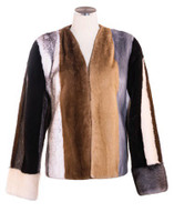 Multicolored Mink Jacket