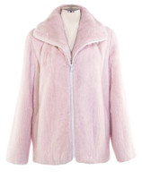 Mink Zip-Up Jacket