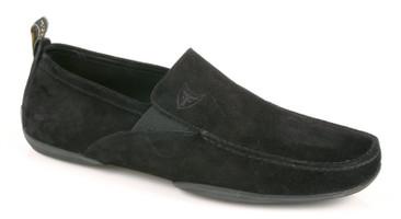 Michael Toschi Driving Shoes Onda Black Suede