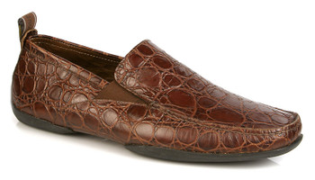 Michael Toschi Driving Shoes Onda Chocolate Crocodile