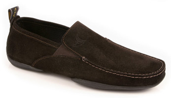 Michael Toschi Driving Shoes Onda Chocolate Suede