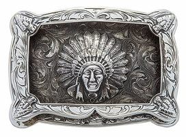 Bohlin Steriling Silver Chief Red Wolf Arrow Trophy Buckle