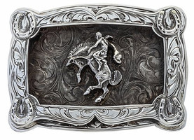 Bohlin Steriling Silver Bucking Horse Trophy Buckle- Small