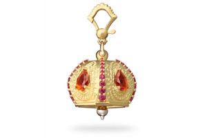 Paul Morelli Raja Citrines and Rhodolites Meditation Bell