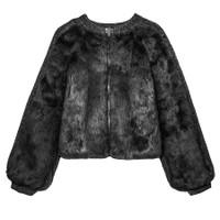 Pologeorgis The Daze Rabbit and Knit Jacket-Black