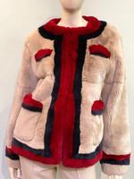 Pologeorgis The Everly Rex Rabbit Fur Jacket-Medium
