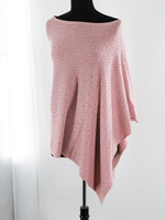 Augustina's Embellished Poncho in Pink