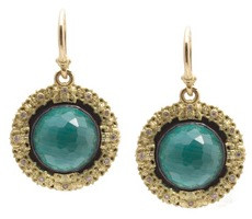 Armenta Malachite Doublet Carved Round Earrings