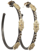 Armenta Earrings Scroll Open Hoop