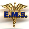EMS ON CADEUCES LAPEL PIN - PN-0017