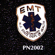 EMT NEW JERSEY DEPT. OF HEALTH LAPEL PIN - PN-2002