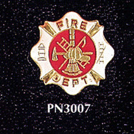 FIRE DEPARTMENT LAPEL PIN - PN-3007