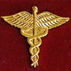 CADUECES GOLD EMBLEM PIN - GPE-1020