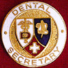 DENTAL SECRETARY EMBLEM PIN - GPE-1094