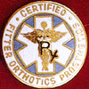CERTIFIED FITTER ORTHOTICS PROSTHETICS EMBLEM PIN - GPE-1083