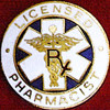 LICENSED PHARMACIST EMBLEM PIN - GPE-3034